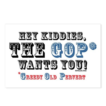GOP=Greedy Old Pervert  Postcards (Package of 8)