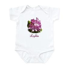 Lydia: Purple Flower Onesie