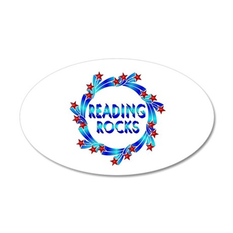 Reading Rocks 35x21 Oval Wall Decal