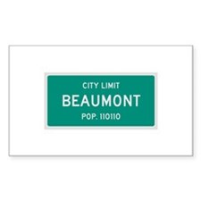 Beaumont, Texas City Limits Decal