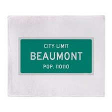 Beaumont, Texas City Limits Throw Blanket