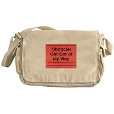 Obstacles Get Out of My Way Messenger Bag