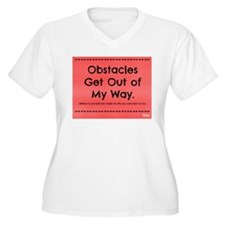 Obstacles Get Out of My Way Plus Size T-Shirt