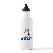 Girl Playing Golf Water Bottle