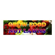 Grow Food Not Lawns Wall Decal