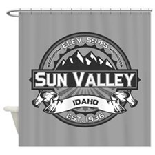 Sun Valley Grey Shower Curtain