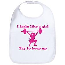 Train Like a Girl Bib