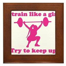 Train Like a Girl Framed Tile