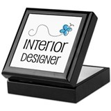 Cute Interior designer Keepsake Box