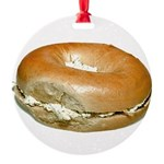 Bagel and Cream Cheese Round Ornament