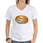 Bagel and Cream Cheese Women's V-Neck T-Shirt