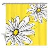 Modern Daisies - ye... Shower Curtain