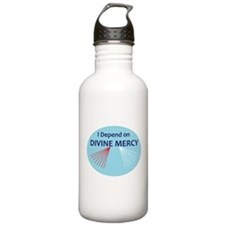 I Depend on Divine Mercy Water Bottle