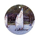 Custom Keepsake (Round) Sailboats, Harbor Springs