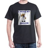 I MISS MY SAILOR Ash Grey T-Shirt