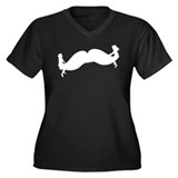 Mustache Seesaw Women's Plus Size V-Neck Dark T-Sh