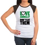 Women's Love Animals Vegan Tshir T-Shirt