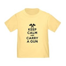 Keep Calm and Carry a Gun T-Shirt
