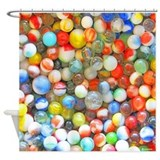Vintage Colorful Marbles Shower Curtain