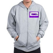 Purple Cassette Tape Zip Hoodie