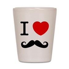 I Heart Mustache Shot Glass