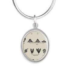 Features of fingerprints - Silver Oval Necklace