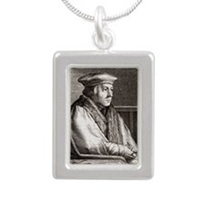 h statesman - Silver Portrait Necklace
