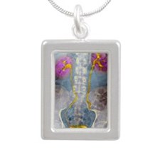 Urinary system, X-ray - Silver Portrait Necklace