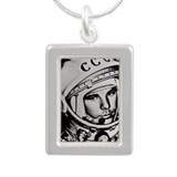 Yuri Gagarin - Silver Portrait Necklace