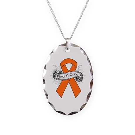 Leukemia Find A Cure Necklace Oval Charm