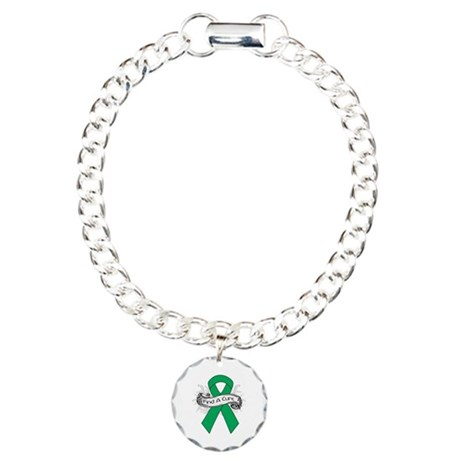 Liver Cancer Find A Cure Charm Bracelet, One Charm
