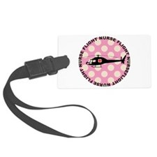 Flight Nurse Pink Polka dots Luggage Tag