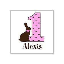 Babys First Easter Custom name Sticker