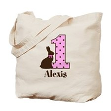 Babys First Easter Custom name Tote Bag