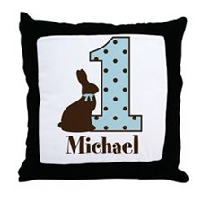 Babys first Easter custom boy Throw Pillow