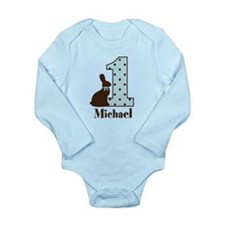 Babys first Easter custom boy Body Suit