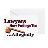 Lawyers Have Feelings Greeting Cards (Pk of 10)