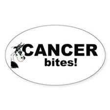 CH Cancer Bites Oval Decal