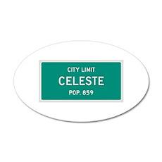 Celeste, Texas City Limits Wall Decal