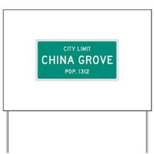 China Grove, Texas City Limits Yard Sign
