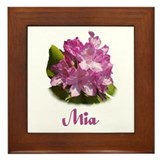 Abby: Purple Flower Framed Tile