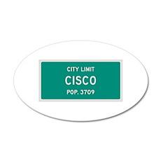 Cisco, Texas City Limits Wall Decal