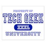 Tech Geek University Small Poster