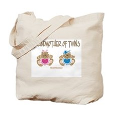 Grandma Of Twins- Boy/Girl Tote Bag