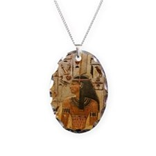 Goddess Maat - Necklace Oval Charm