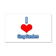 I Heart Greg Sanders2 Car Magnet 20 x 12