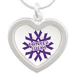 GIST Cancer Sucks Silver Heart Necklace