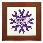 GIST Cancer Sucks Framed Tile