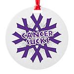 GIST Cancer Sucks Round Ornament