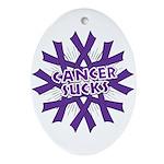 GIST Cancer Sucks Ornament (Oval)